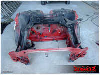 However, 205 GTI's subframe fitted straight on, which was nice :-).
