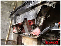 Rear subframe points connected to the rear slam panel.