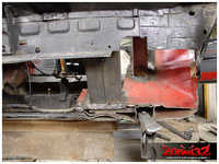 """It was time to finish the work on the subframe area, by strengthening the """"sandwich""""."""