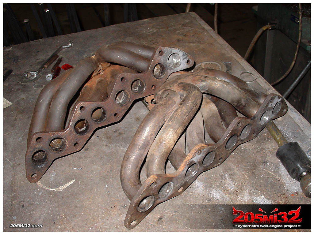 We've had two of exhast manifolds - the better one will get ports cleaned up and flange skimmed.