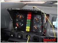The mini dash also finished, along with our custom center warning lights stripe.