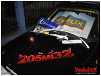 Digitally printed 205Mi32 logo sticker graces the front bonnet and rear engine's cover :-).