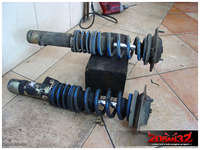 Old FK coilovers, that were used as front shocks until now.