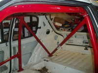 The new roll cage sitting in place awaiting proper fitment, looking good though!