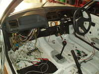 Stripped bar the wiring loom and dash