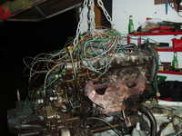 Engine out, looking like spageti junction