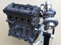 Turbo and manifold on engine