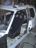 Testmount of drivers seat