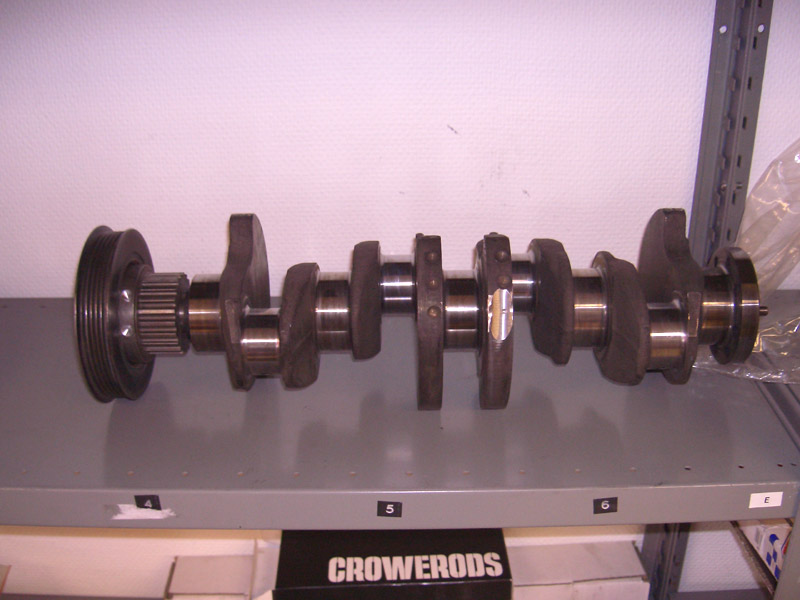 The crankshaft after offsetgrinding and balancing