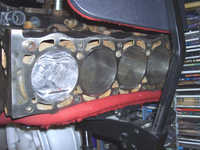 Assembling engineblock with one piston and rod assembly