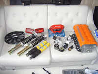 Order from Specialtuning, enginemounts, Gr. N rear dampers and slimline radiator fan.