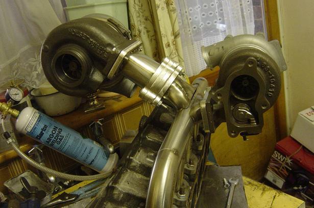 Turbos mounted