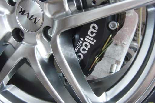 Wheel and brake closeup
