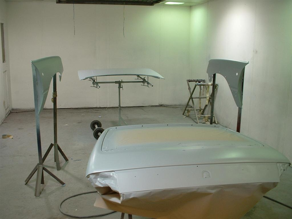 All of the panels are now primed