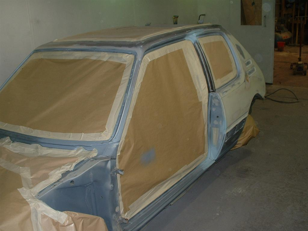 Neat masking is the key to a clean, dirt free paint job.