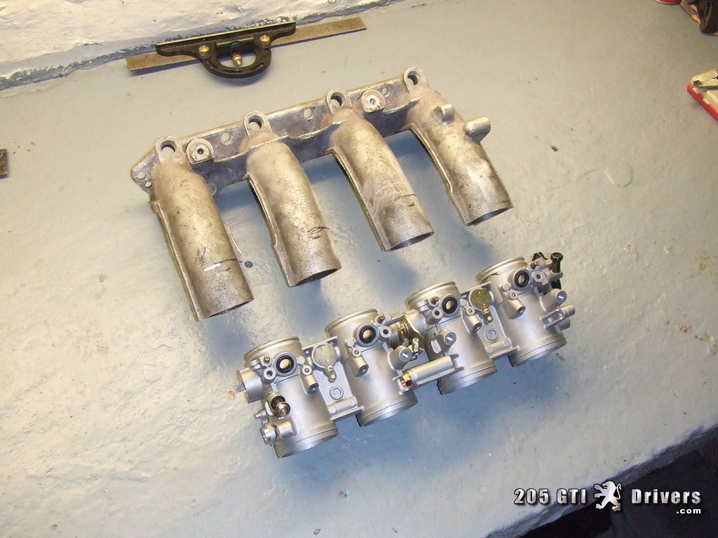 GSXR 750 Throttle Bodies - Ready to mate to Mi16 Inlet