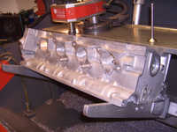 Head is in the valve-cutting machine