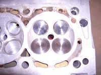 Put some valves into one chamber, notice inlets which are 36.5mm Pumaracing inlets