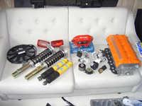 Order from Specialtuning, enginemounts, Gr. N rear dampers and slimline radiator fan.